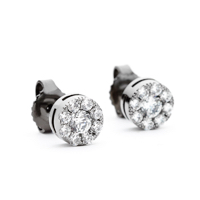 Black Rhodium Cluster Earrings