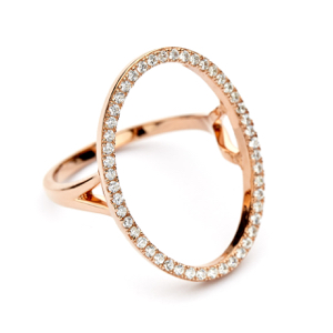 Oval Open Ring in Rose Gold Vermeil